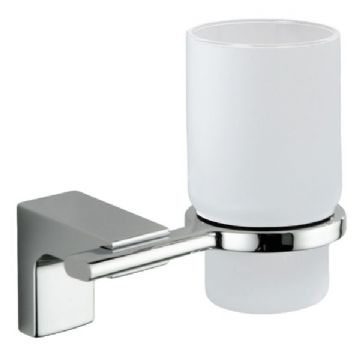 Sonia Eletech Frosted Glass Tumbler Holder Chrome 113989